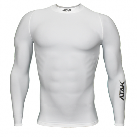 Atak Compression top white long