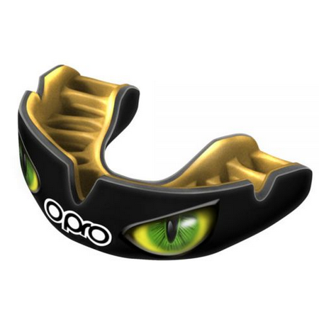 Opro Mouth Guard Eyes Green