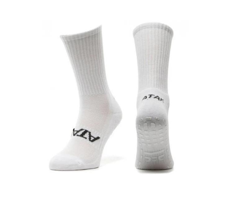 SHOX Mid-Leg Grip Socks White