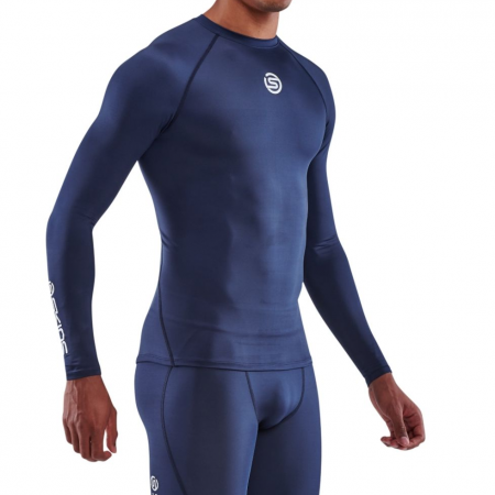 Skins Compression top Long RearBlue