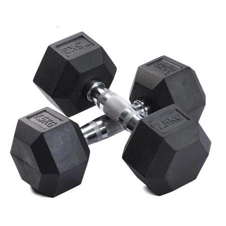 7.5kg Hex Dumbells