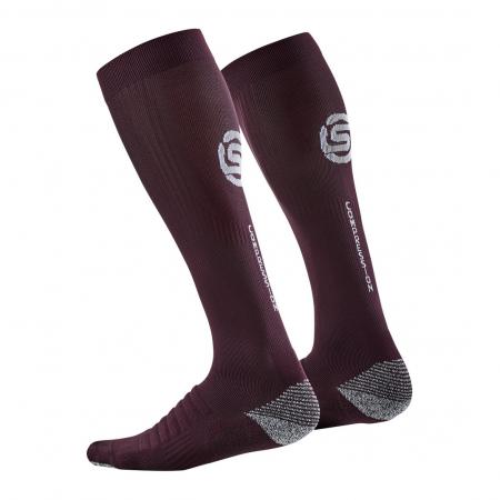 Skins Compression Sock Burgandy